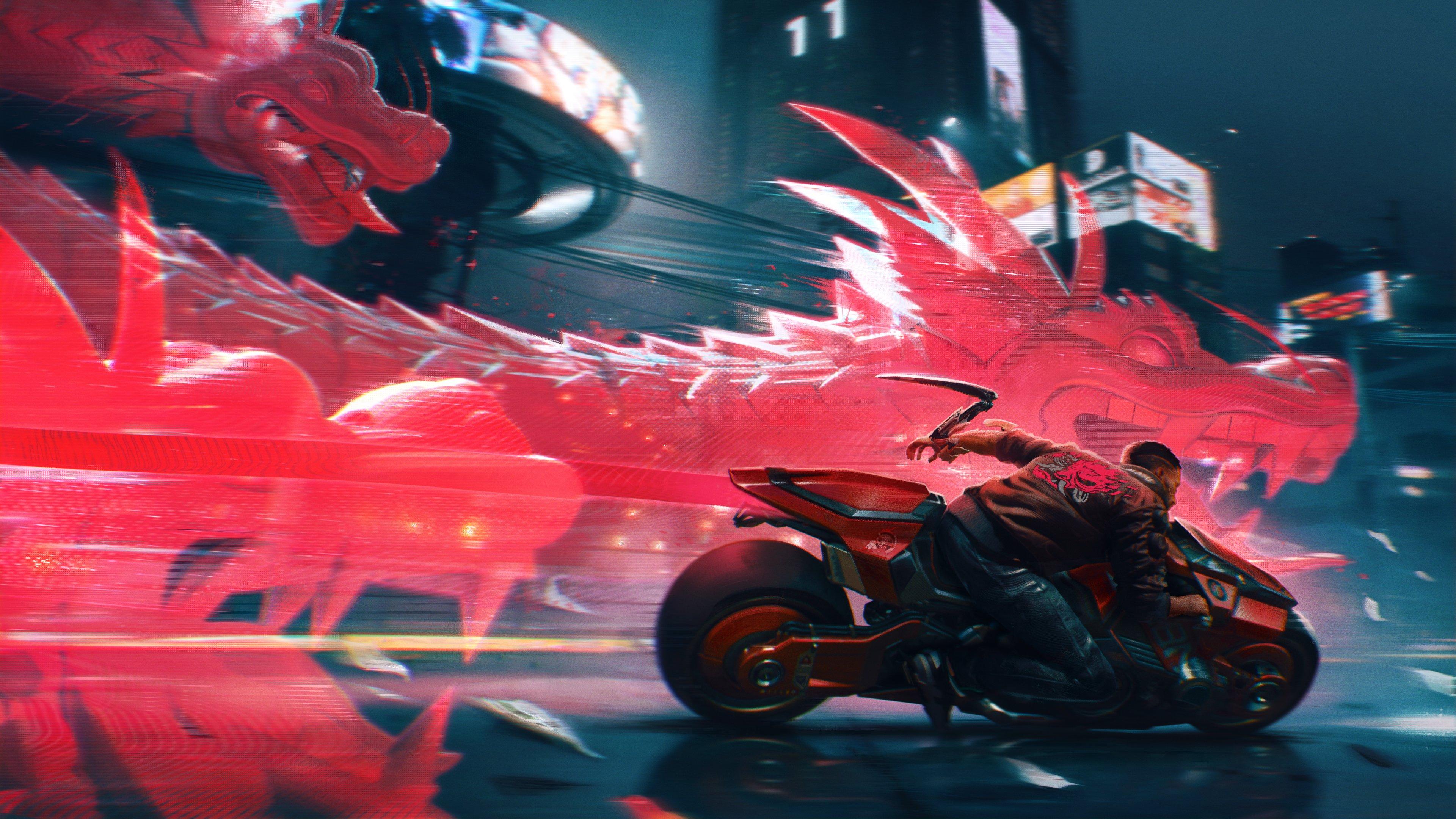 Официальный арт Cyberpunk 2077 в честь китайского праздника драконьих лодок