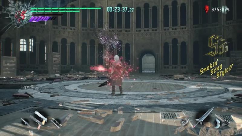 Devil May Cry 5 - Данте все боссы Кровавого Палаца без урона