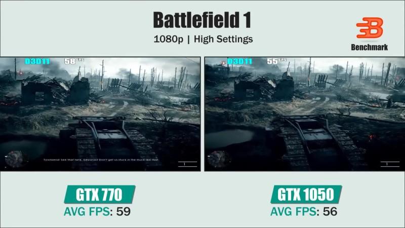 Сравнение - GTX 770 vs GTX 1050