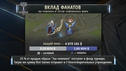 Призовой фонд ЧМ League of Legends достиг $4 000 000