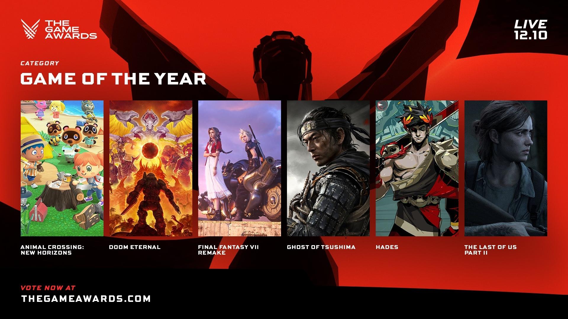 Стали известны номинанты на The Game Awards 2020