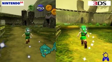 Zelda: Ocarina of Time | Nintendo 64 vs Nintendo 3DS | Сравнение графики