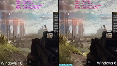 Сравнение FPS в Battlefield 4 - Windows 10 Vs Windows 8