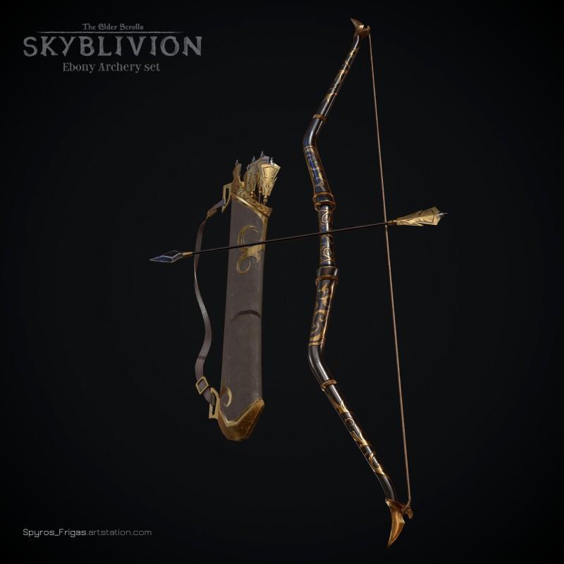 Эбонитовые доспехи из модификации Skyblivion