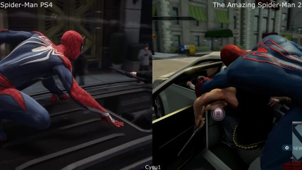 Spider-Man PS4 vs The Amazing Spider-Man 2 PS4 Сравнение графики