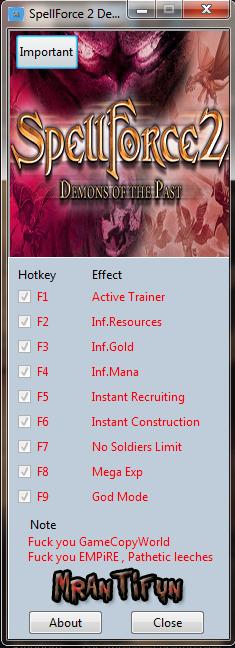 SpellForce 2 ~ Demons of the Past: Trainer (+8) [2.66.5360.0] {MrAntiFun}