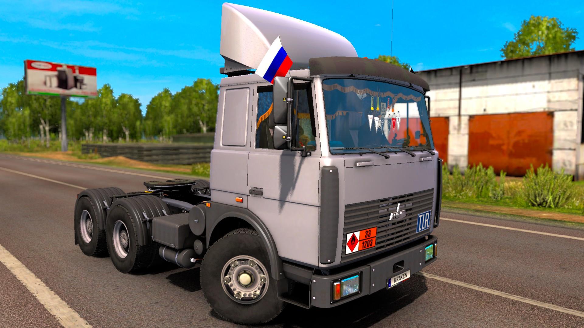 Скачать мод маз для euro truck simulator
