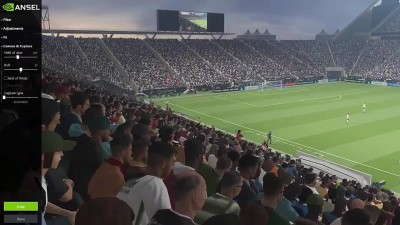 Обзор стадиона в PC версии PES 2018 по технологии ANSEL
