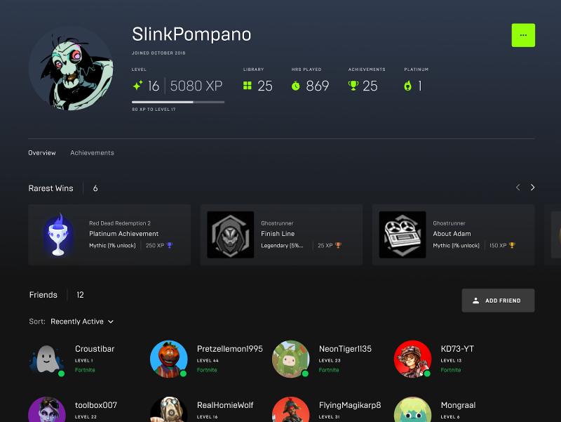 Epic Games Store обновит профили пользователей, добавит превью при наведении и многое другое в ближайшее время