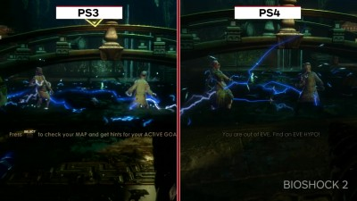 Bioshock: The Collection Сравнение графики PS3 vs. PS4 (IGN)
