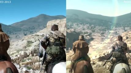 Metal Gear Solid V The Phantom Pain E3 0013 vs Retail PS4 Graphics Comparison