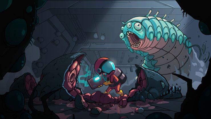 Релиз The Bug Butcher – ураганного Shoot 'em up о борьбе с инопланетными чудовищами