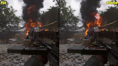 Call Of Duty WW2 - Beta - PS4 Pro Vs PS4