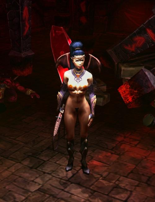 King's Bounty: Dark Side с nude-патчем, обнаженная демонесса Неолина