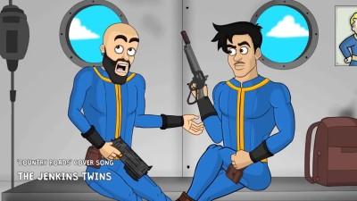 FALLOUT 76 вышла - Первый летсплей в реальной жизни (анимация)