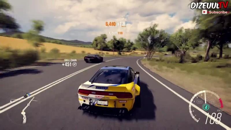 Forza Horizon 3 - Nissan 240SX SE Rocket Bunny - 2.6L 4 Rotor Racing Геймплей HD