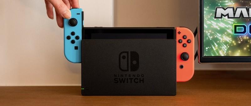 Nintendo Switch в режиме док-станции