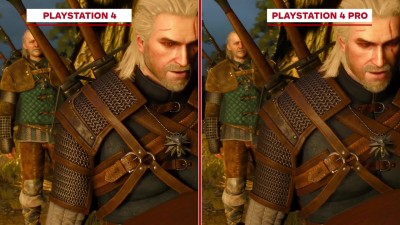 The Witcher 3: Wild Hunt Сравнение графики - PS4 Pro vs. PS4