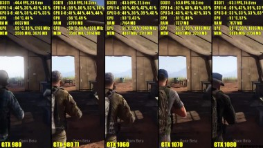 Ghost Recon Beta GTX 1080 Vs GTX 1070 Vs GTX 1060 Vs GTX 980 TI Vs GTX 980 Частота кадров