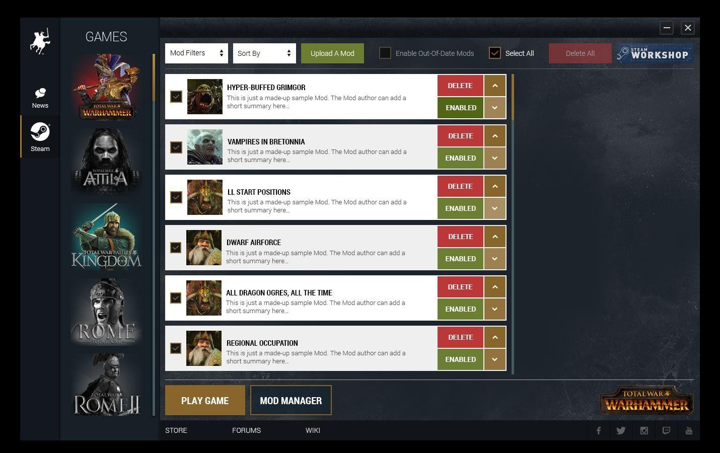 Уровни Сложности Total War
