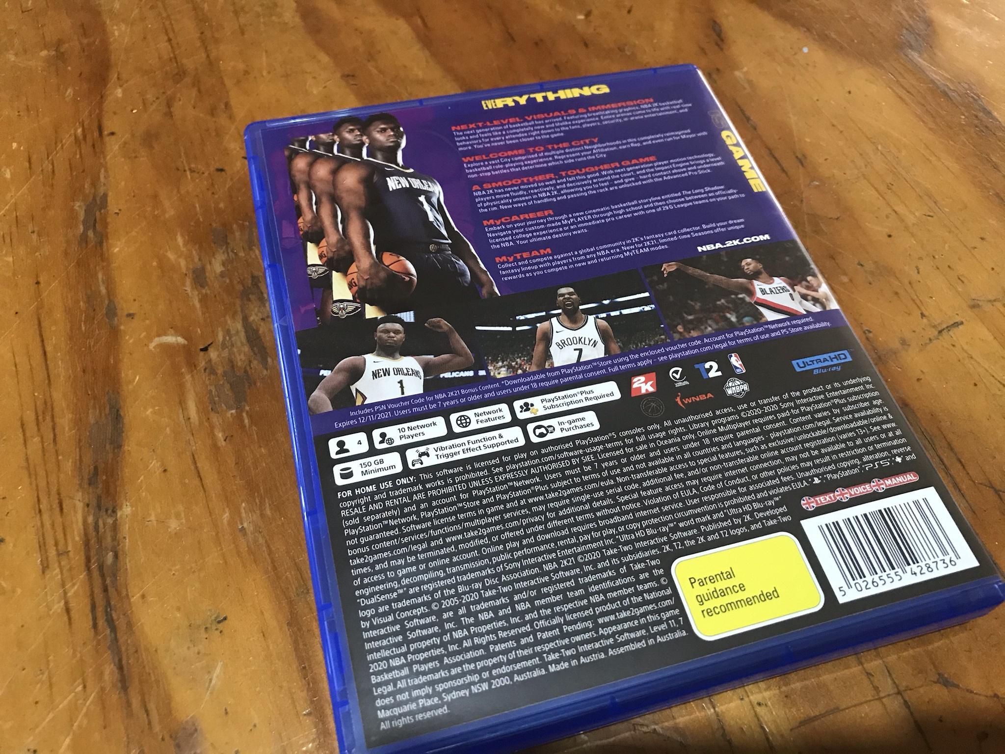 Новое поколение требует жертв: NBA 2K21 займет много места на внутреннем накопителе PlayStation 5