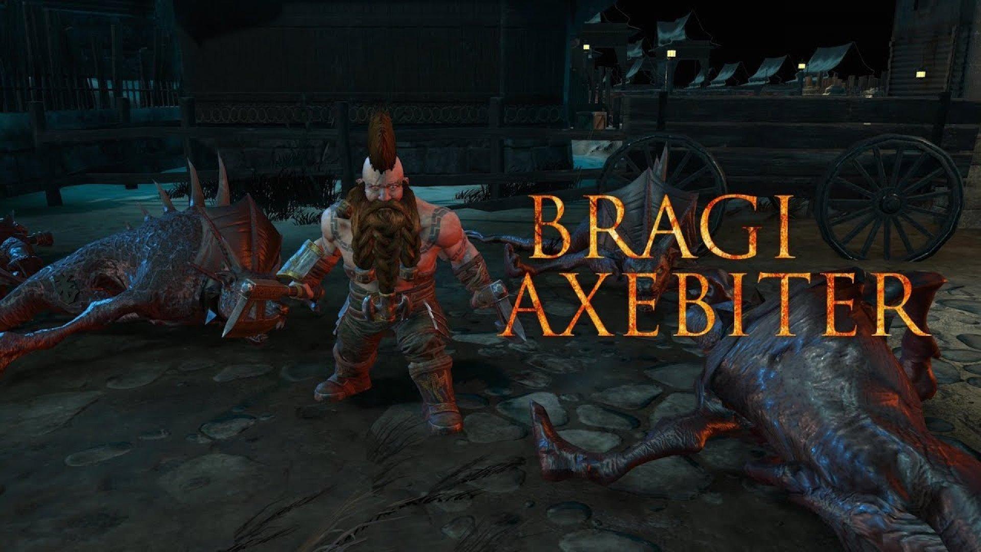Браги Грызущий Секиру - еще один герой Warhammer: Chaosbane