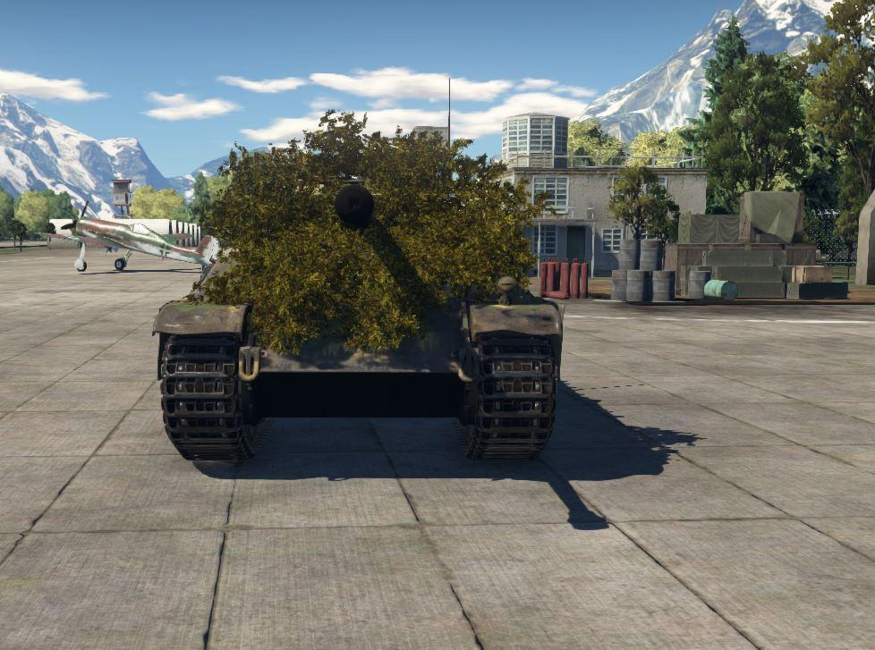 как поставить кусты на танк в war thunder