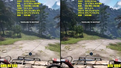 Far Cry 4 GTX 1060 Vs AMD RX 580 Сравнение