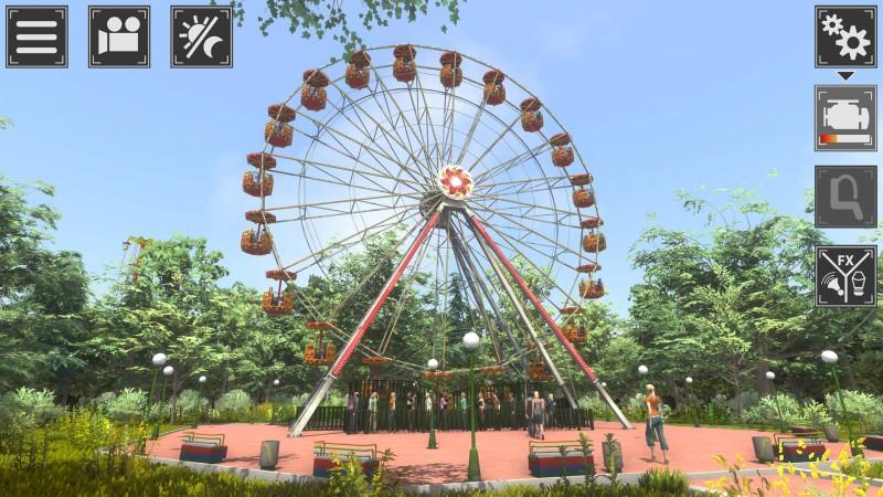 Theme Park Simulator. Хоть где-то можно покататься на халяву.
