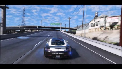 Обзор мода на додбавление полицейского мерседеса GTA 0