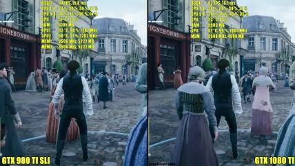 Assassin's Creed Unity 0080 TI Vs GTX 080 TI SLI Ультра 0440p Частота кадров Сравнение