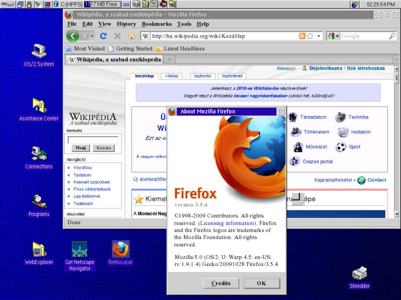 Рабочее окружение OS/2 Warp 4.0