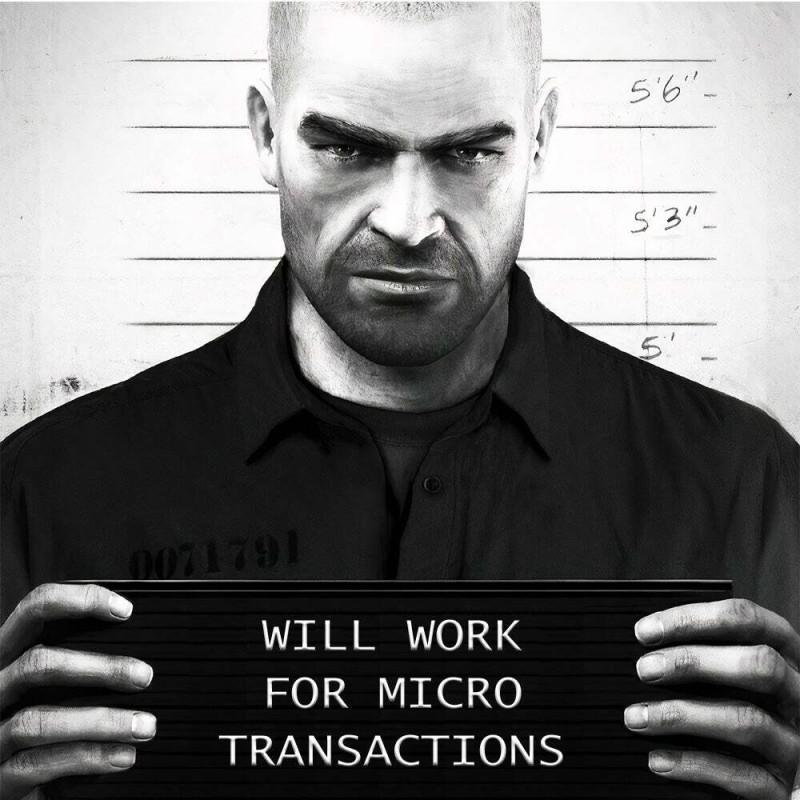 Буду работать за микротранзакции