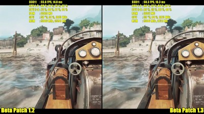 Dishonored 2 Pc Beta Patch 1.3 Vs Beta Patch 1.2 GTX 1080 Ultra Частота кадров