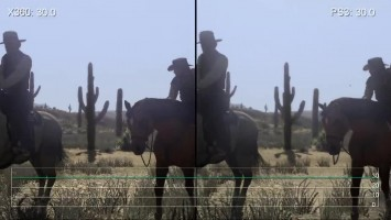 "Red Dead Redemption""Сравнение частоты кадров для Xbox 360 vs PS3 (Digital Foundry)"""