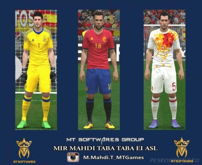 Форма сборной Испании на Евро-2016