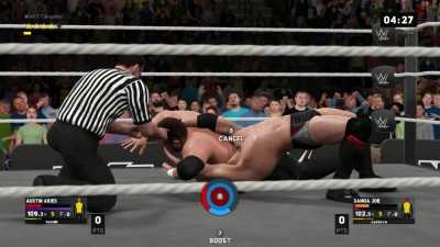 WWE 2K17- Austin Aries VS Samoa Joe