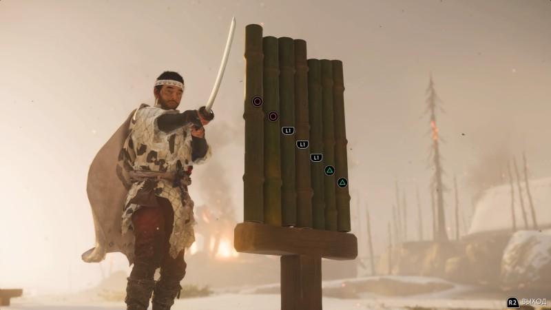 Еще одно развлечение разруби бамбук  в мини-игре 16 раз