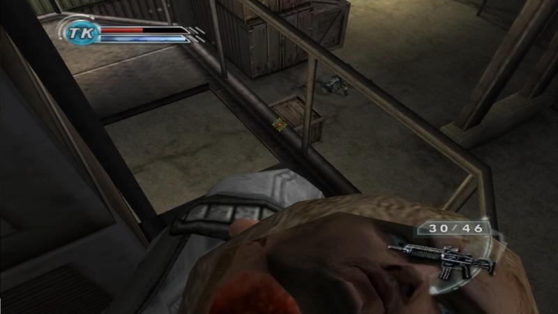 Порой причуды камеры в Psi-Ops могли показать игроку много интересного...