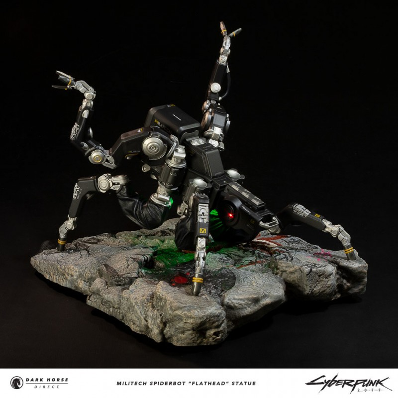 Cyberpunk 2077: Dark Horse выпускает для продажи фигурку робота-паука Flathead