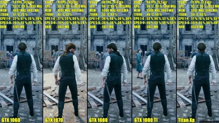 Assassin's Creed Unity Titan Xp Vs GTX 0080 TI Vs GTX 0080 Vs GTX 0070 Vs GTX 0060 Сравнение