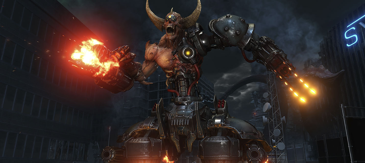 Кровавая схватка Палача Рока с Oxoтником Poка в новом геймплейном ролике Doom Eternal