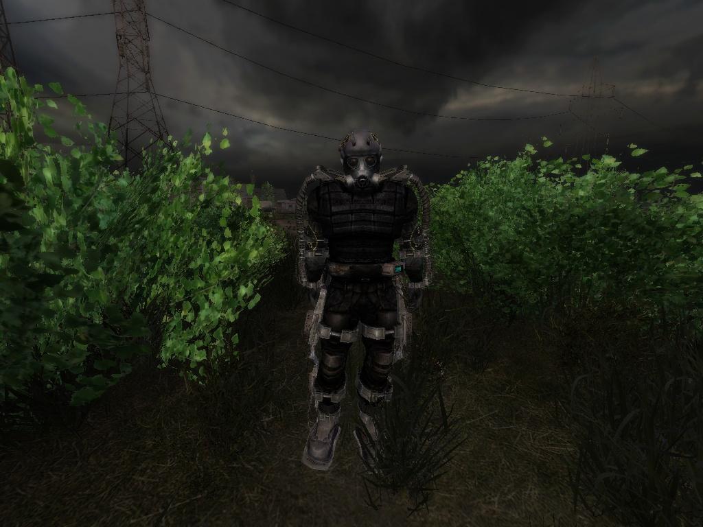 Картинки сталкер бандиты экзоскелет