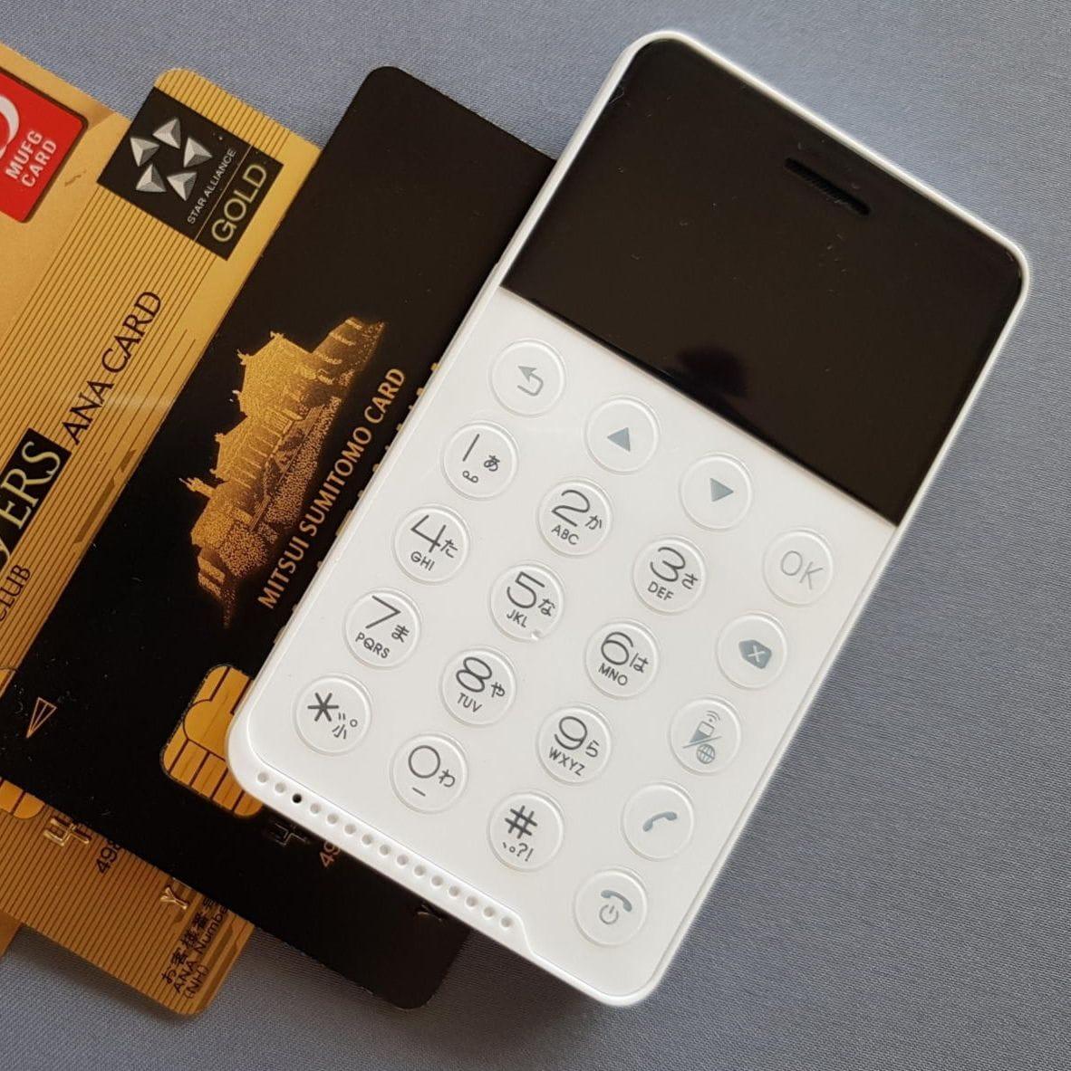 Японцы представили 1-ый смартфон размером скредитку