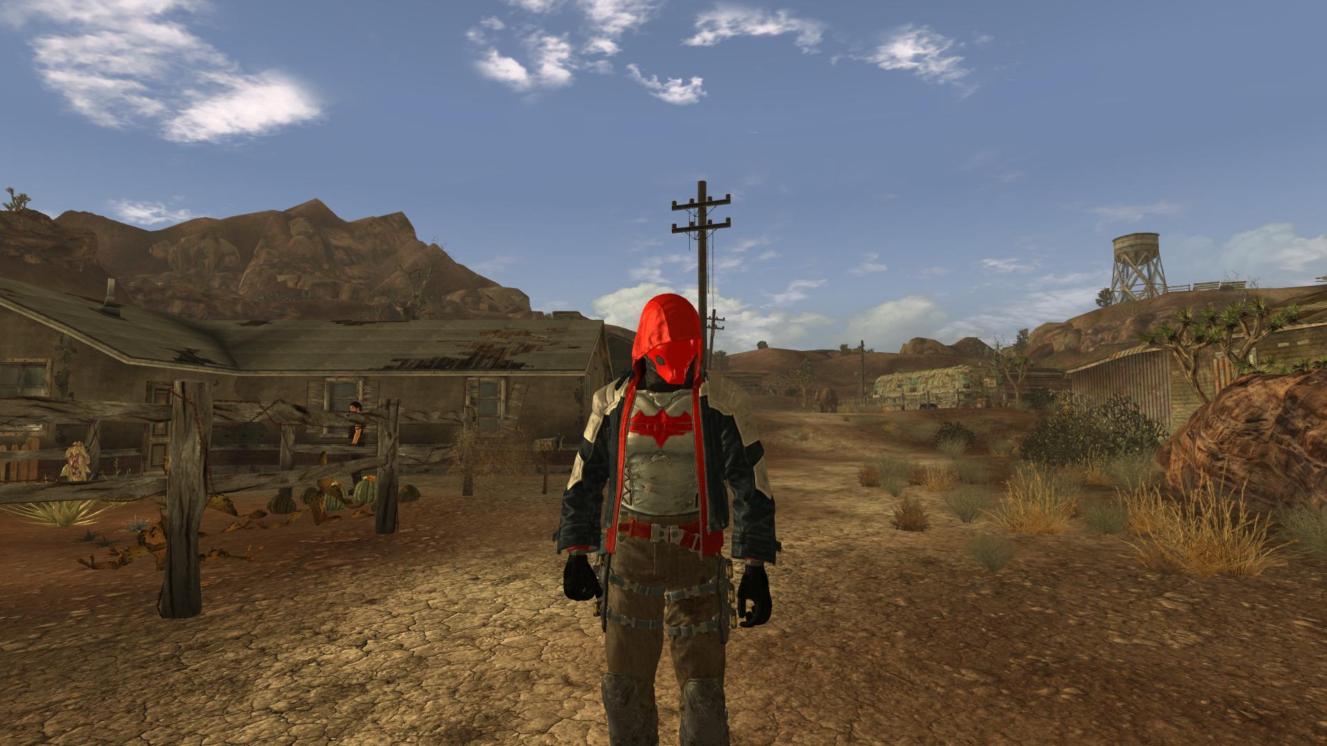 "Fallout: New Vegas ""Batman Arkham Knight Red Hood"""