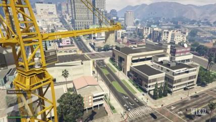 GTA 0 Как Майкл вернется домой, если его оставить на строительном кране!