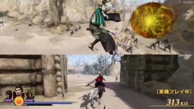 Геймплей Warriors Orochi 4 на разделенном экране