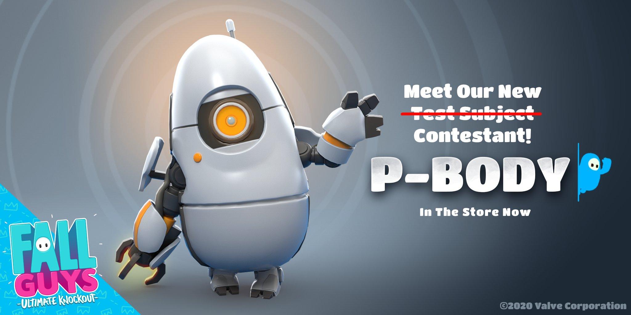 В Fall Guys добавлен образ Пи-Боди из Portal 2