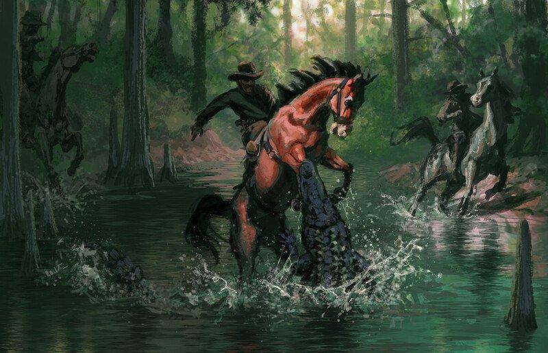 Аллигаторы Red Dead Redemption 2 изначально предназначались для нападения на лошадей