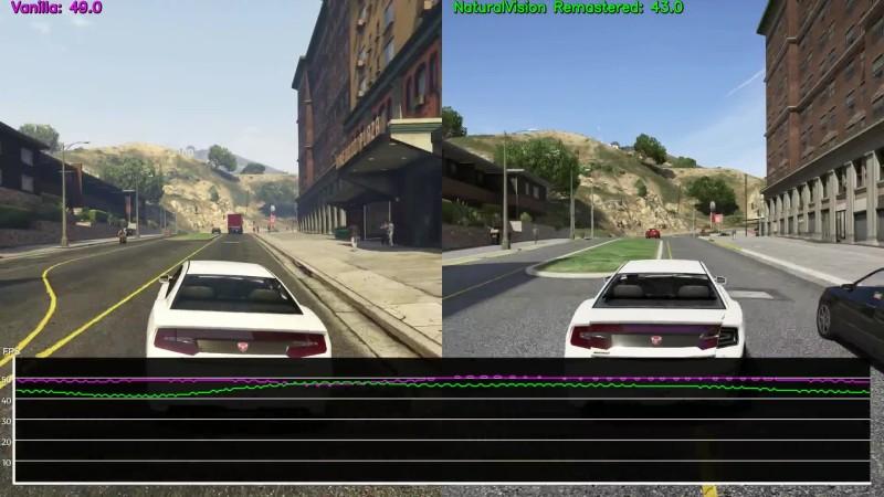 GTA 5 - Сравнение NaturalVision Remastered vs. Vanilla (Candyland)